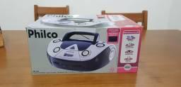 Som Portátil Philco PB126 com CD Player MP3, Rádio FM