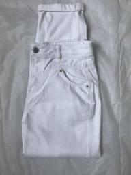 Calça jeans branca cintura alta (leia a descricao)