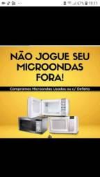 Microondas com defeitos e fornos elétrico