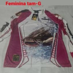 Camisa Feminina king com Proteção UV