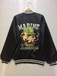 Jaqueta esportiva vintage U.S.M.C. Marine Bulldog Versity