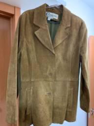 Jaqueta feminina de couro