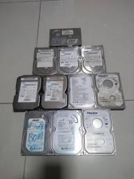 Lote com 11 HD's ide (somente venda)