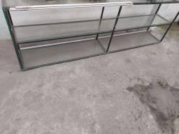 Estante de vidro 400$