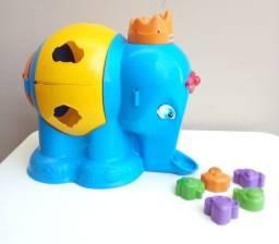 Título do anúncio: Brinquedo elefante com peças de encaixar