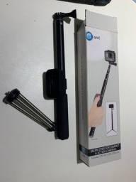 Selfie Stick + Tripé Câmeras