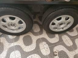 Jogo de rodas aro 14 com pneus novos