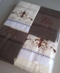 Título do anúncio: Kit 5 peças toalha de banho