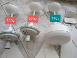 Ventilador de teto - 03 unidades.