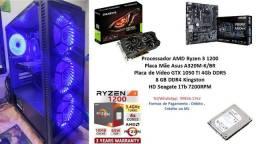 PC Gamer Amd Ryzen 3 1200 8Gb GTX 1050 TI 4Gb + Brindes !!!