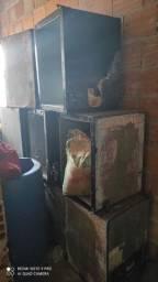 Lote 10 freezers expositor  para restaurar