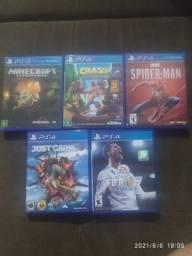 5 jogos PS4 R$ 350,00