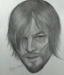 """Desenho """"Daryl - The Walking Dead"""""""