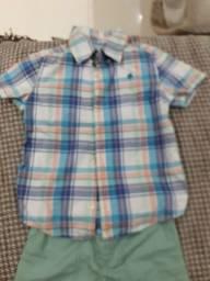 Conjunto carters de menino, camisa e bermuda