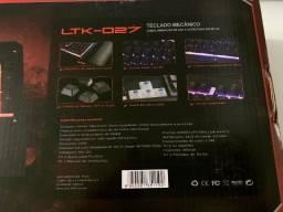 Teclado Gamer Mecânico DEX Led Multimídia LTK-027