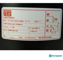 Moto ventilador weg 1/10 cv