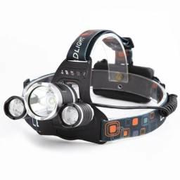 Lanterna Cabeça Bike  3 Leds  Recarregável