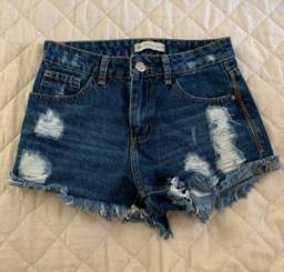 Bazar de shorts Jeans Infantil Feminino tam 10