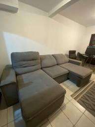 Sofa / Cama - tecido especial icea - Cinza (guaratuba)