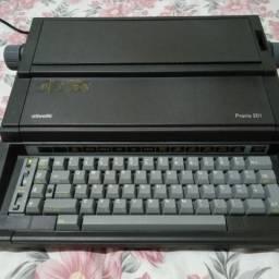 Máquina de Escrever elétrica Olivetti Praxis 201 li