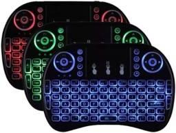 """Voltamos, loja aberta"" Mini Teclado De Mão Iluminado Led Usb Qwerty Console Pc"