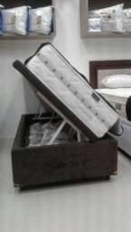 Base Box Bau Solteiro, Montagem Grátis, Direto da Fabrica! Ligue 21 2764-9572