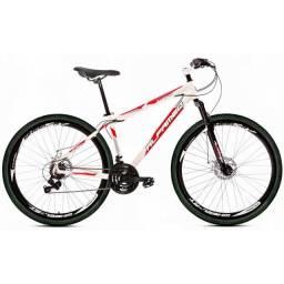 Bicicleta / bike Aro 29 Alfameq Stroll Freio À Disco 21 Marchas - Branco e Vermelho