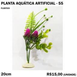 Planta Aquática com Flor Lilás para Aquário