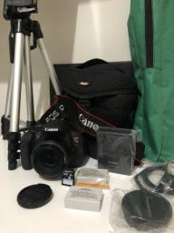 Câmera Canon T5i Touchscreen + Lente 50mm + Bag + Cartão M. 02 Bat. + Tripé