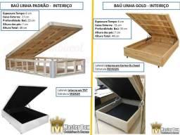 Box Bau Laterais Fechadas na Madeira, Montagem Grátis, Direto da Fabrica! 21 2764-9572