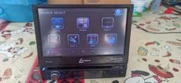 Dvd retrátil Lenoxx tela 7 dvd USB tv digital cd cartão sd Aux bem novinho barbada aceito