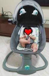 Cadeira de descanso infantil automática com Bluetooth verde