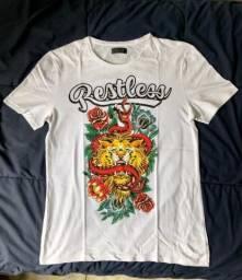 aef5839d367dd Camiseta Branca Zara Casual Original