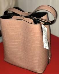 Bolsa de couro estilo sacola