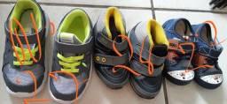 3 sapatos para bebê por R$75,00