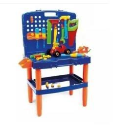Bancada Ferramentas Completa Oficinal Infantil Kit 54 Peças