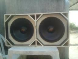 Caixa de som grave e alto falantes de 15 de 550