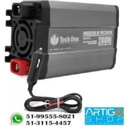 Inversor De Voltagem Tech One 200w 12v Para 110 - 220V Com Usb