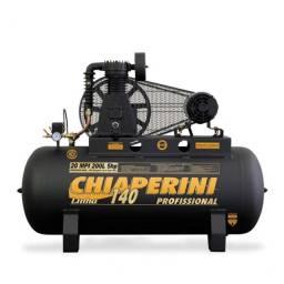 Compressor de ar média pressão 20 pés 200 litros trifásico Chiaperini