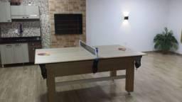 Mesa Tentação e Jantar Cor Cerejeira Tecido Verde Mod. YOMA7426