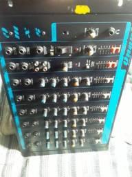 Mesa de som oneal de 6 canais