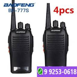 Kit 4 Radio Comunicador Walk Talk Baofeng Bf-777s