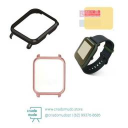 Case e película para Amazfit Bip relógio smartwatch