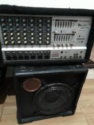 Mesa de som mais caixa acustica