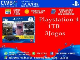 Playstation 4 1TB,Kit 3 jogos,novo lacrado,garantia de 1 ano,somos loja física-PS4
