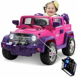 Carro eletrico jeep rosa