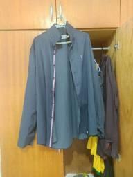 Camisa social azul Marinho da Sergio K