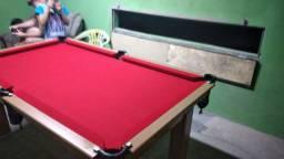 Mesa Tentação e Jantar Cor Cerejeira Tecido Vermelho Mod. LRGW7936