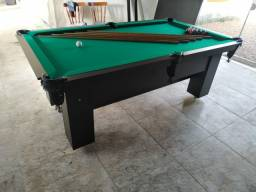 Mesa Charme de Sinuca Cor Preta Tecido Verde Mod. RVXL4805