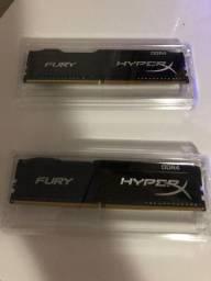 Memória HyperX Fury, 8GB (2x4GB), 2400MHz, DDR4
